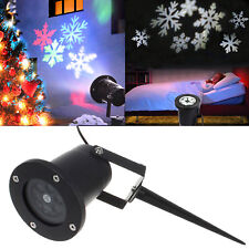 New Garden Xmas Decor Outdoor Snowflake Light LED Laser Projector Landscape Lamp