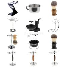 Men Barber Shaving Brush Safety Razor Holder Rack Stand Shave Mug Soap Bowl Set