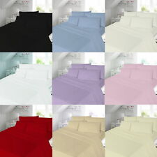 """100% Brushed Cotton Flannelette PLAIN COLOUR EXTRA DEEP FITTED SHEET 40 CM (16"""")"""