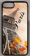 Eiffel Tower Paris in Fall Postcard design Apple iPhone or iPod Case or wallet