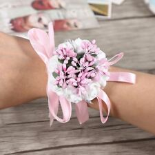 Party Prom Bridesmaid Corsage Bridal Hand Flower Ribbon Wrist Flowers Wedding