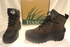 ITASCA ICE BREAKER MENS BROWN LEATHER INSULATED WINTER BOOTS, SIZES 10,11,14 NEW