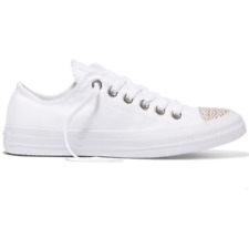 New Converse All Star Low Snake Toe Cap - White / Gold