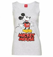 Official Women's Grey Marl Vintage Mickey Mouse Disney Vest