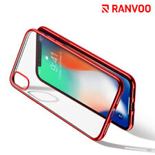 For iphone X Case Ultra Slim Crystal Clear Back Cover Soft TPU Shockproof Bumper