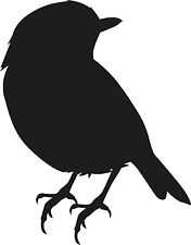 Window Wall Display Robin Finch Bird Silhouette Decal Vinyl Sticker Craft Glass