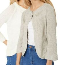 Soft touch rounded hem cardigan with 3/4 sleeves