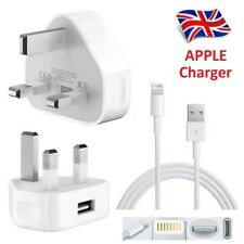Genuine Mains Wall Charger Plug + USB Data Cable for Apple iPhone 7 6S 6 Plus 5s