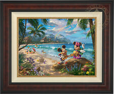 Thomas Kinkade Mickey and Minnie in Hawaii 18 x 24 Limited Edition S/N Canvas