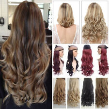 New ALL Colors Real Natural Soft Thick Wavy Straight Clip in Hair Extensions TMd