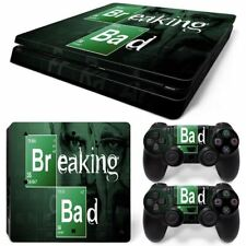 Free Drop Shipping for PS4 SLIM Skin Sticker Kit- Removable Vinyl -Breaking bad