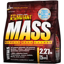 Mutant Mass 2.2kg - 6.8kg Mass Muscle Gainer Serious Mass Weight Gain