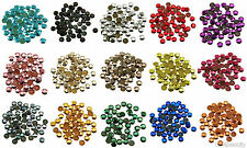 6mm Iron On Hot Fix Metal Studs in Varies Colours and Varies Lots