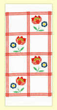 Red and White Kitchen 100% Cotton Flour Sack Towel - Vintage, Retro - PICK STYLE