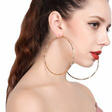 Big Large Womens Hoop Earrings Hoop Earings Jewelry Basketball Wives Round Gold