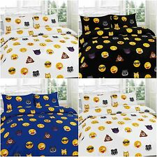 New Modern ICON EMOJI Duvet Quilt Cover Bedding Set with Matching Curtains