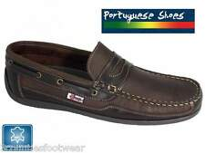 BEPPI PORTUGUESE MADE DECK LOAFERS -  SUPERB QUALITY LEATHER BOAT SHOES  BNWB