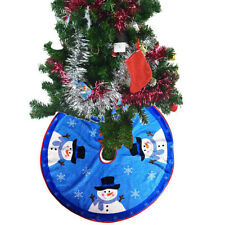 HK- Snowman Santa Claus Christmas Tree Skirt Stand Ornament Home Party Decor Sol