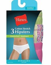 6 Pair Hanes Women's Cotton Stretch Hipster Panties with ComfortSoft Waistband