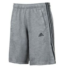 Adidas Men Essential 3-Stripe Shorts Pants Gray Training GYM Soccer Pant S12910