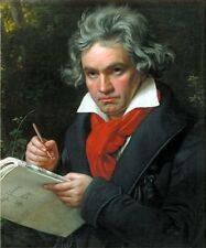 Portrait of Ludwig van Beethoven by Stieler (Classic Music Composer Art Print)
