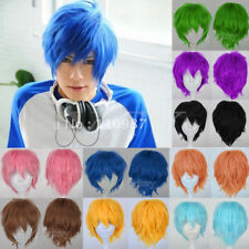 Boy/Girl UNISEX Anime Halloween Short Wig Cosplay Party Fancy Dress Full Wigs US