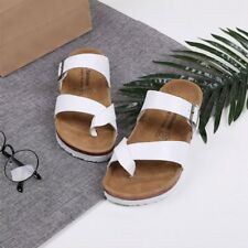 Summer Women Gladiator Sandals Shoes Thong Flops T Strap Flip Flat Size Toe