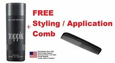 New TOPPIK Hair Building Fibers Large Bottle - 27.5g FREE Shipping and FREE Comb