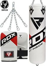 RDX Heavy Punching Punch Bag Gym Boxing Training Mitts Unfilled Fitness MMA