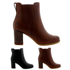 Womens Timberland Atlantic Heights Mid Heel Leather Winter Ankle Boots US 5-10