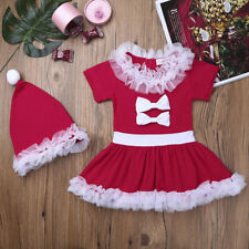 Infant Baby Girls Christmas Dress Bowknot Birthday Holiday Outfit Xmas Costumes