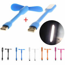 Flexible USB Fan USB LED Light Lamp For MacBook Laptop Notebook PC Power Bank