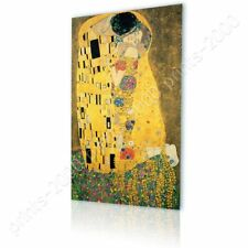 READY TO HANG CANVAS The Kiss Gustav Klimt Framed Print Oil Painting Print
