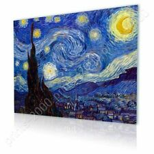 READY TO HANG CANVAS Starry Night Vincent Van Gogh Frame Framed Print