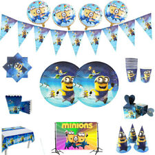 New Minions Kids Theme Birthday Party Supplies Favor Tableware Decor Gift