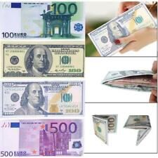 Currency Notes Pattern Pound Dollar Euro Purse Wallets Coin Purse