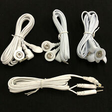 Electrode Replacement Lead Wires Jack 2.5mm Head Plug 2.0mm Pin Cables for TENS