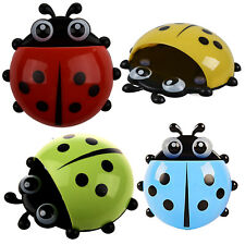 Convenient Toothbrush Stuff Ladybug Wall Suction Holder-Red J7L4@G4T8