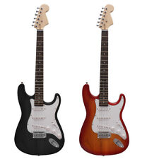 Stratocaster Electric Guitar with Gig Bag and Accessories, Black and Sunburst