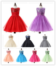 Baby Flower Girl Party Sequins Dress Wedding Bridesmaid Dress Princess Hot Sale