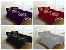 New & Modern DOMINIC Duvet Quilt Cover Bedding Set with Pillowcases, All sizes
