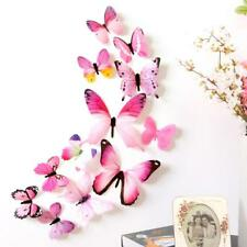 Wall Stickers Home Decorations 3D Butterfly Rainbow PVC Wallpaper living room