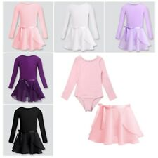 Kids Girl Ballerina Dancewear Gymnastics Leotard Ballet Dress Tutu Skirt Costume