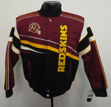 WASHINGTON REDSKINS YOUTH JACKET NFL FIRST AND TEN COTTON TWILL FOOTBALL BOYS