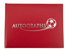 Red Football Autograph Book Liverpool FC, Manchester United FC, Charlton FC