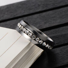 Mens Genuine Stainless Steel Wide Band Pattern Ring Size 8 10 Lovers Ring