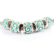 10pcs Cute Silver Plated Charm murano Glass beads European Fit bracelet
