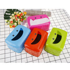 Smile Face Tissue Box Container Towel Napkin Tissue Box Organizer Table Decor O