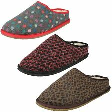 LADIES CLARKS SLIP ON FAUX FUR WARM COSY WINTER INDOOR SLIPPERS ADELLA ALPINE