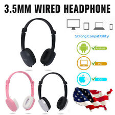 Wired Headphone Over-ear Headset Hands-free with Mic 3.5mm for Phones Computers